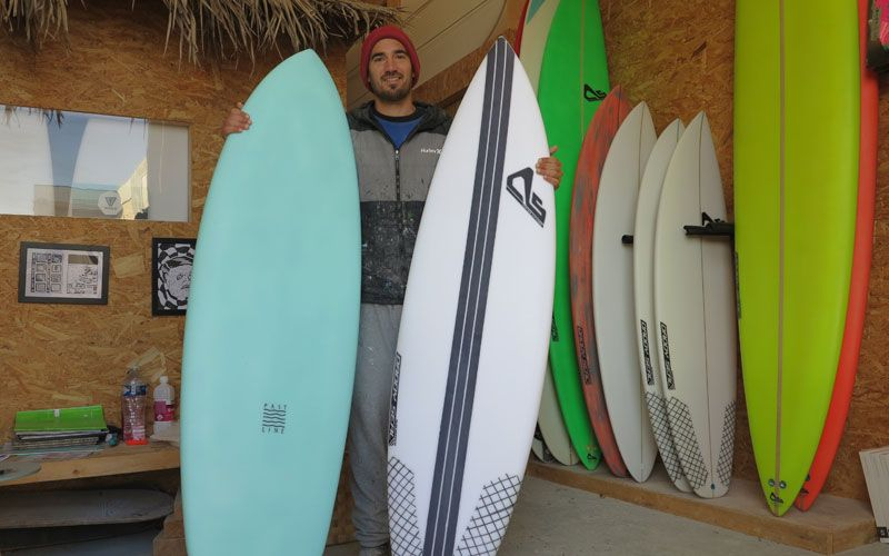 Mathieu Portero de Daddy Seal Surfboards